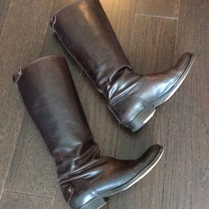 Frye Melissa Button Zip Riding Boots